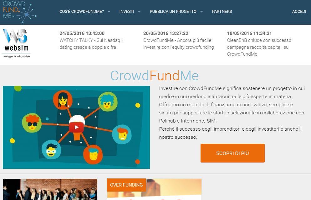 CrowdFundMe: raccolta di capitali  per startup interamente online