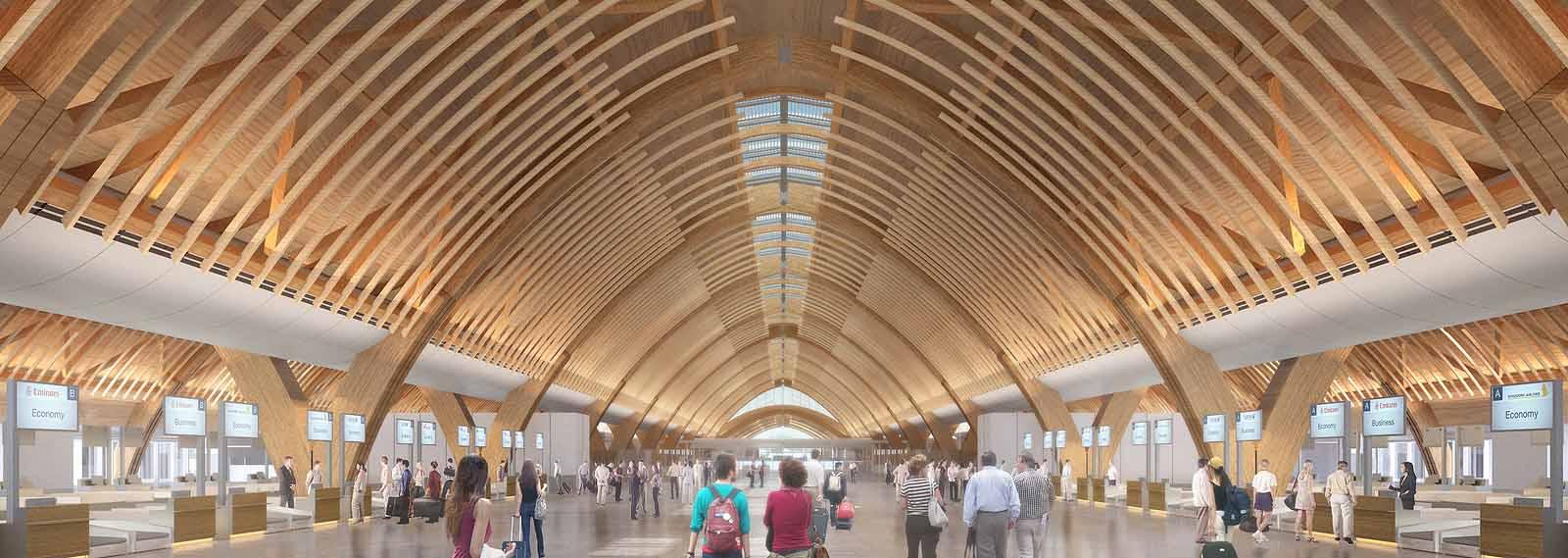 La soluzione sostenibile di Rubner Holzbau per il nuovo aeroporto di Mactan-Cebu