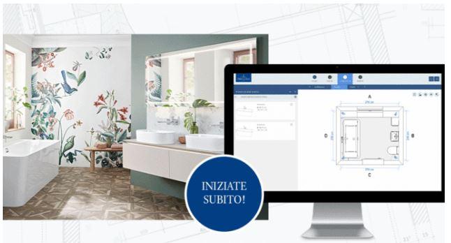 Progettare il bagno dei propri sogni?  Si può fare comodamente da casa con la progettazione bagni 3D online di Villeroy & Boch