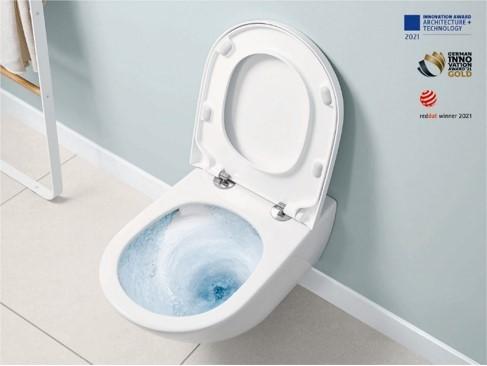 Villeroy & Boch presenta TwistFlush, massima pulizia e risparmio idrico