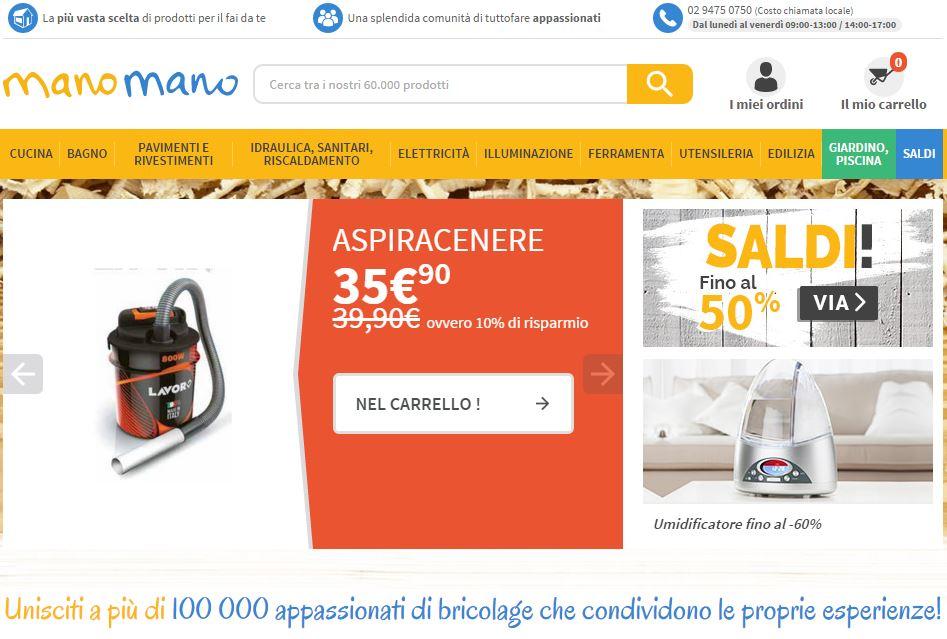 ManoMano.it: vendere online di prodotti per il fai da te