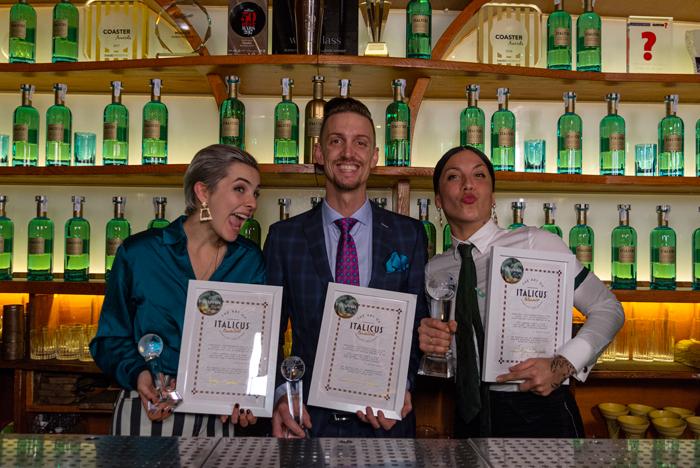 Top3 dei cocktail a base di Italicus, rosolio di bergamotto, premiati all'Art of Italicus Aperitivo Challenge 2019