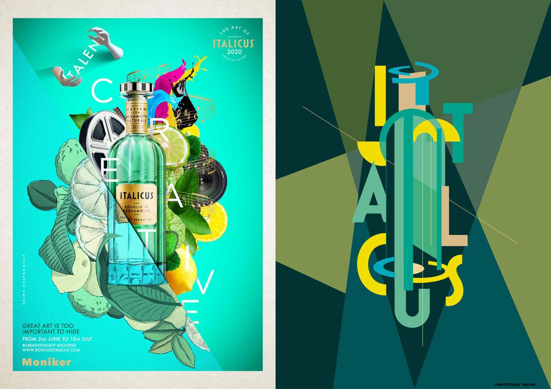 Art of ITALICUS 2020, Creative Talent:  i vincitori del primo contest di Digital Art  dedicato all'aperitivo italiano