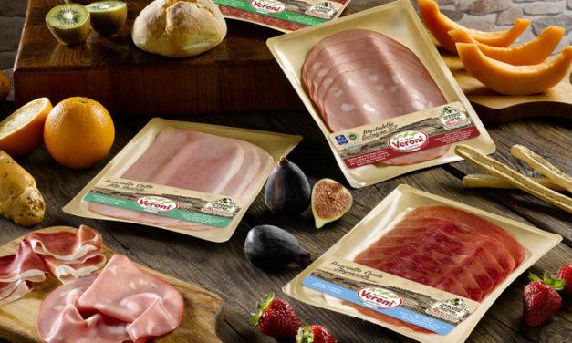 """Veroni salumi:  75% di plastica in meno e carta certificata fsc® Per la vaschetta della nuova linea """"gli affettati nature"""""""